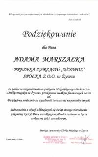 Podziękowanie_ Żłobek Miejski
